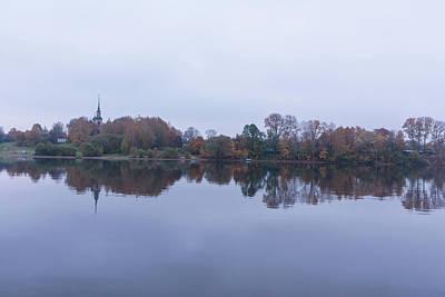 River Bank Volga. Late Autumn. Poster