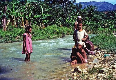 River Bathing Poster