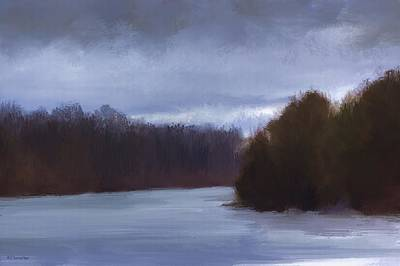 River Bend In Winter Poster