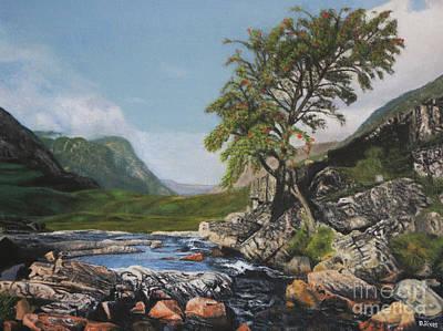 River Coe Scotland Oil On Canvas Poster