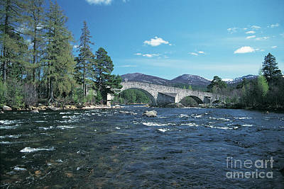 River Dee At Invercauld Old Brig  Poster by Phil Banks