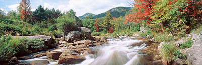 River Flowing Through Rocks, Ausable Poster