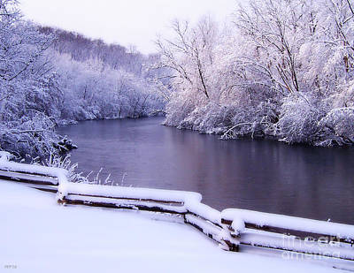 River In Winter Poster by Phil Perkins