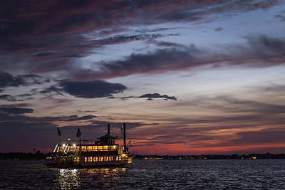 River Lady At Sunset Island Heights Nj Poster