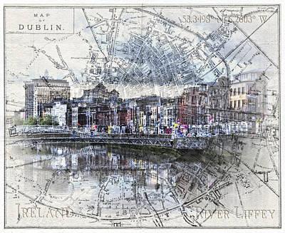 River Liffey Dublin Poster