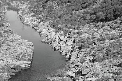 River On The Rocks. Bw Version Poster