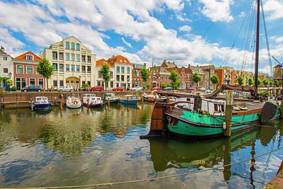 River Scene In Rotterdam Poster