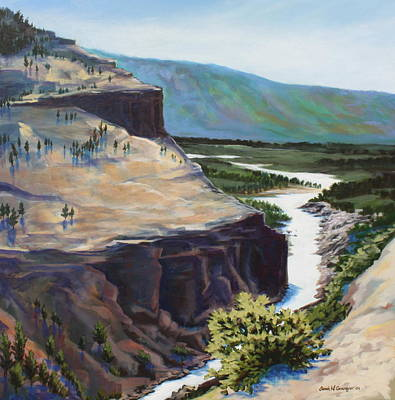 River Through The Canyon Poster