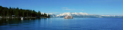 Riverboat On Lake Tahoe, California Poster by Panoramic Images