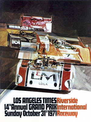 Riverside Can-am Poster by Peter Chilelli