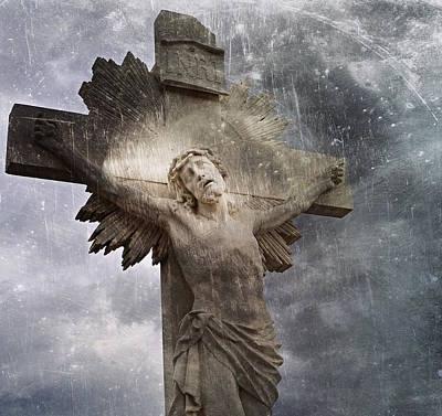 Riverside Cemetery Cross Poster