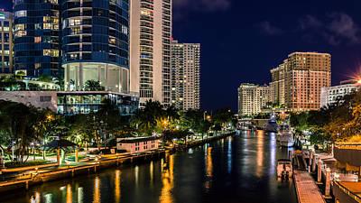 Riverwalk Park In Fort Lauderdale Fl Poster