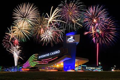 Riverwind Fireworks II Poster by Ricky Barnard