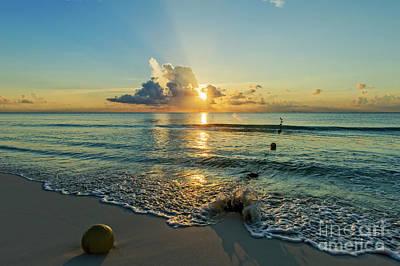 Riviera Maya Sunrise Poster by Charles Dobbs