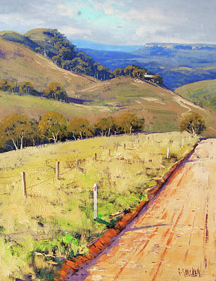 Road Into The Kanimbla Valley Poster by Graham Gercken