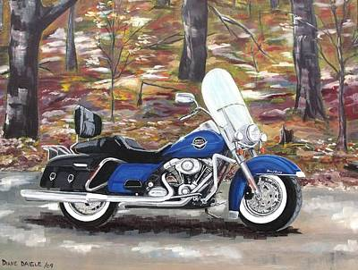 Road King Poster by Diane Daigle