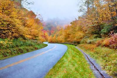 Road Through Autumn Paradise Ap Poster by Dan Carmichael