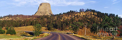 Road To Devils Tower Crossing Belle Fourche River Poster