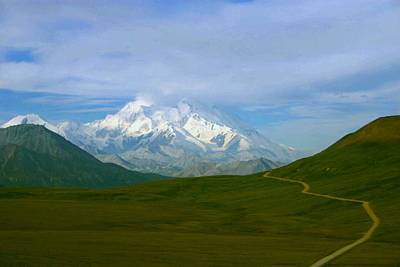 Poster featuring the photograph Road To Mt Mckinley by Jack G  Brauer