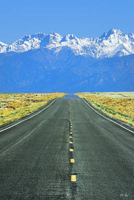 Road To The Sangre De Cristo Mountains Poster by Aaron Spong