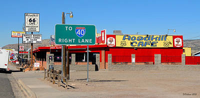 Roadkill Cafe, Route 66, Seligman Arizona Poster