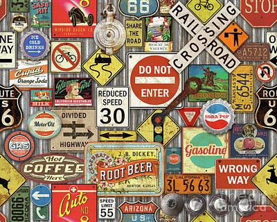 Roads Signs On Steel-jp3959 Poster