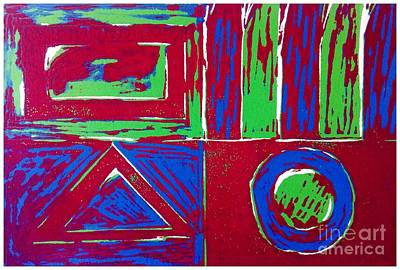 Roadside And Road Signs Abstract Poster by Joan-Violet Stretch