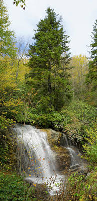 Poster featuring the photograph Roadside Waterfall In North Carolina by Mike McGlothlen