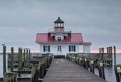 Roanoke Marshes Lighthouse Poster by Cindy Archbell