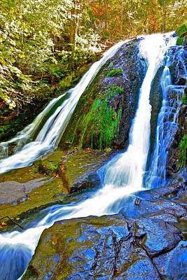 Roaring Run Falls State Park Virginia Poster by The American Shutterbug Society