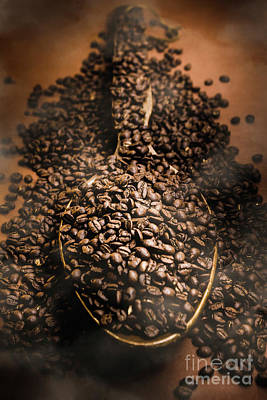 Roasting Coffee Bean Brew Poster by Jorgo Photography - Wall Art Gallery