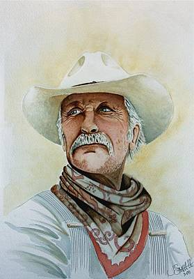 Robert Duvall As Augustus Mccrae In Lonesome Dove Poster by Jimmy Smith