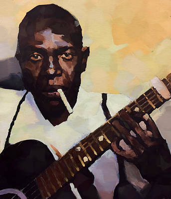 Robert Johnson Plays The Blues Poster by Dan Sproul