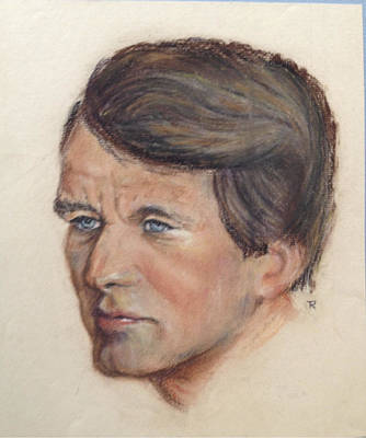 Poster featuring the painting Robert Kennedy by Anthony Ross