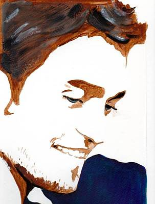 Poster featuring the painting Robert Pattinson 14 by Audrey Pollitt