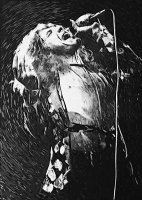 Robert Plant Poster by Taylan Apukovska
