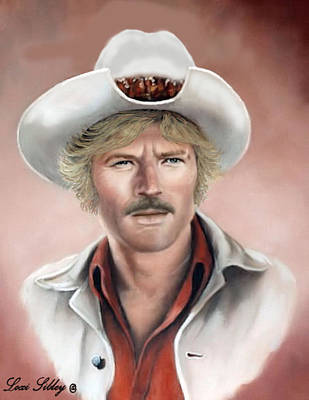 Poster featuring the painting Robert Redford by Loxi Sibley