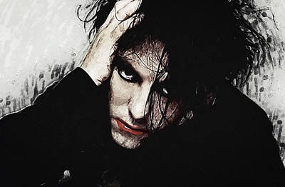 Robert Smith - The Cure  Poster by Taylan Apukovska