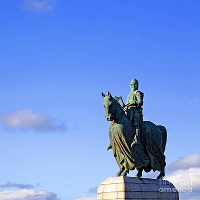 Poster featuring the photograph Robert The Bruce King Of Scots  by Craig B