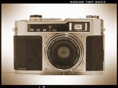 Robin 35mm Rangefinder Camera Poster