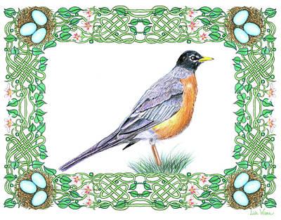 Robin In Spring Poster