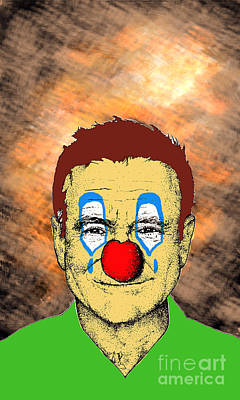 Poster featuring the drawing Robin Williams 1 by Jason Tricktop Matthews