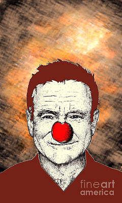 Poster featuring the drawing Robin Williams 2 by Jason Tricktop Matthews