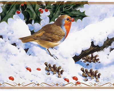 Robin Winter Poster by John Francis