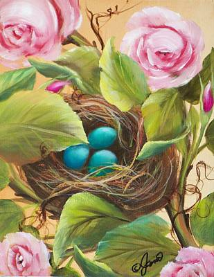 Robin's Nest Poster by Joni McPherson