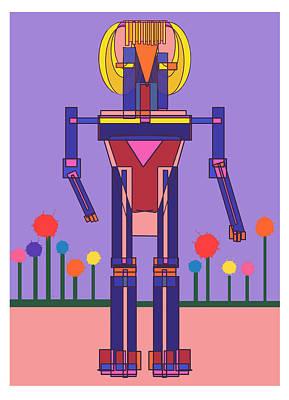 Robot Girl Poster by Denny Casto