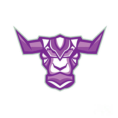 Robot Yak Bull Head Front Poster