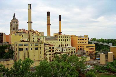 Rochester, Ny - Factory And Smokestacks 2005 Poster by Frank Romeo