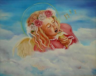 Poster featuring the painting Rock And Roll Angel by Joni McPherson