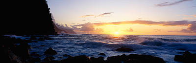 Rock At The Coast, Na Pali Coast Poster by Panoramic Images